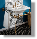 Empire & Art Deco Metal Washstand