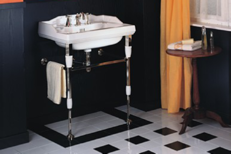 Monarque Washbasin & Metal Washstand