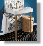 Art Deco Metal Washstand