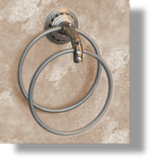 Pompadour Double Towel Ring