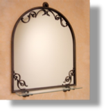 Royale Art Nouveau Mirror & Shelf
