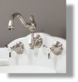 Monarque Wall Mounted 3-Hole Basin Set