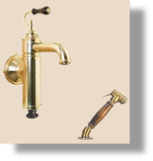 Estelle Wall Mounted Mixer with Deckmounted Spray
